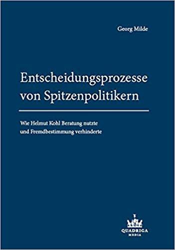 Buchcover Entscheidungsprozesse Helmut Kohl Beratung